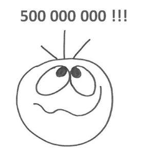 muž tvář 500 mil